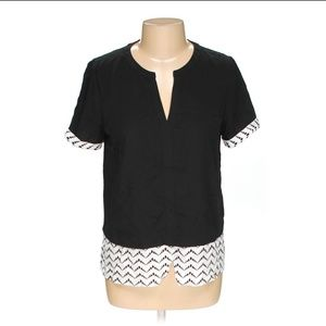 41 Hawthorn Layered Look V Neck Blouse Top